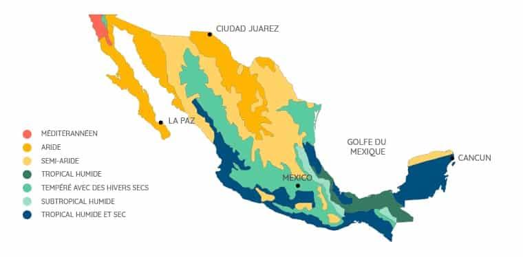 Quand partir au Mexique - Climats