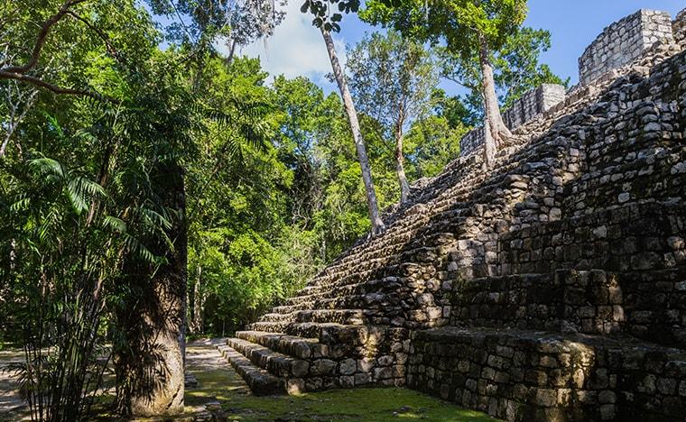 Visites des ruines de Calakmul