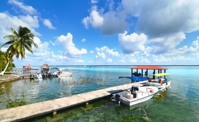 Excursion en bateau à la lagune de Bacalar