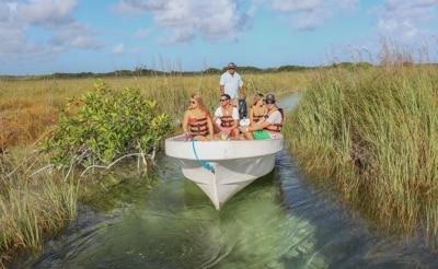 Excursion en bateau à la réserve de Sian Ka'an